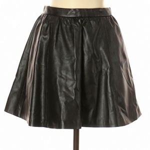 NWT H&M Divided Black Faux Leather Swing Skirt